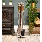 Polished Stainless Steel Contemporary Fireside Companion Set