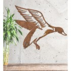 """Mallard"" Duck Wall Art in Situ on a Rustic Wall"