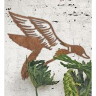 """Mallard"" Duck Wall Art in Situ on a Rustic White Wall"
