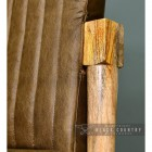 Mango Wood & Olve Goat Leather Finishes on the Chair