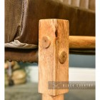Close-up o fthe Mango Wood Finish on the Chairs Frame