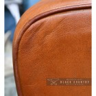 View of the Side of the Tan Goat Leather