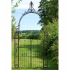 """""""Manor Estates"""" Traditional Rose Arch Gates Finished in a Rustic Finish"""