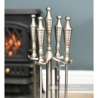 Matte Pewter Companion Set With Urn Handles
