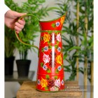 Red Traditional Hand Painted Narrowboat Style Jug to Scale