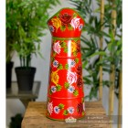 Front View fo the Red Traditional Hand Painted Narrowboat Style Jug