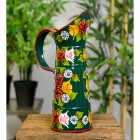 Traditional Hand Painted Narrowboat Style Jug Finished in Green