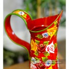 Traditional Hand Painted Narrowboat Style Jug finished in Red