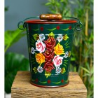 Large Narrowboat Hand Painted Bucket finished in Green