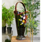 """Daintree"" Hand Painted Iron Narrowboat Coal Hod or Umbrella Stand - Black"