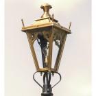Medium Antique Brass Gothic Lamp Post Top