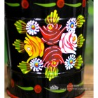 Colourful Rose Pattern on the Narrowboat Bucket