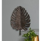 Medium Black Palm Leaf Ornamental Wall Art