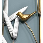 Polished Brass Finished Bird on the Wall Art
