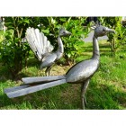 """Pavo Cristatus"" Indian Peafowl Sculptures"