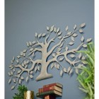 Brushed Beige Effect Tree Wall Art