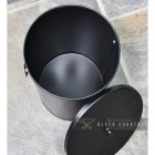 Top View of the Black Modern Ash Bucket