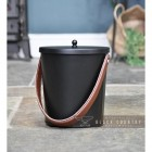 Modern Ash Bucket Finished in Black