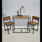 Modern Industrial Style Table & Chair Set in Situ