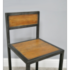 Close-up of the Chair on the Modern Industrial Style Table & Chair Set