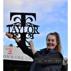 Taylor Monogram Sign to Scale