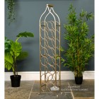 """Monticello"" Double Row Wine Rack Finished in an Antique Gold Finish"