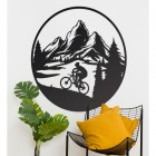 Mountain Bike Wall Art in Situ
