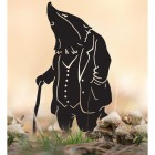Mr Badger With Walking Stick Silhouette in Use Outdoors