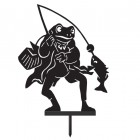Mr Frog Silhouette in a Black Finish