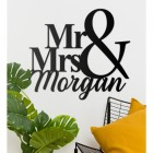 Wall Art with Mr & Mrs