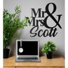 Black Mr & Mrs Wall Art