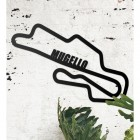 Mugello Race Track Wall Art on the Wall Next to Plants