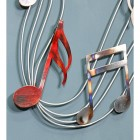 Musical Note Metal Wall Art