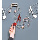 Musical Metal Wall Art Sign to Scale