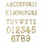 Polished Brass Numbers & Letters