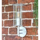 """""""Naltio"""" Contemporary Silver Wall Light in Situ Outside"""