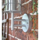 Close-up of the Bracket Mounted Flush Against a Brick Wall