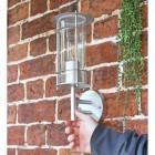 """""""Naltio"""" Contemporary Silver Wall Light to Scale"""
