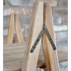 Natural Wooden Triangular Four Tier Shelf Close Up