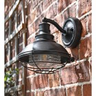 Marine Inspired Wall Lantern with Bracket in Situ on a Brick Wall