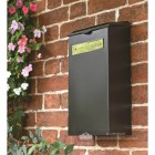 Newspaper and Parcel Holder In Black With Brass Plaque