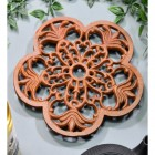 Robust Rustic Cast Iron Flower Trivet