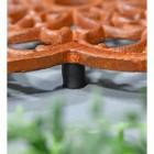 Rustic Cast Iron Flower Trivet Feet