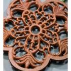 Rustic Cast Iron Flower Trivet Detailing