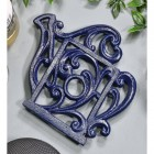 Blue Cast Iron Kettle Trivet