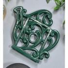 Green Cast Iron Kettle Trivet