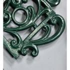 Green Cast Iron Kettle Trivet Details