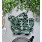 Green Cast Iron Kettle Trivet in Situ