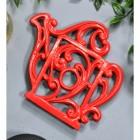 Red Cast Iron Kettle Trivet