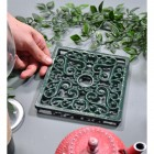 Green Square Cast Iron Trivet to Scale